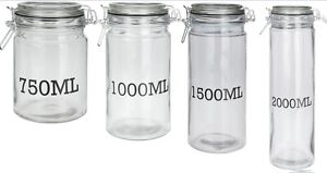 Clip-Top-Glass-Storage-Jars-Very-Large-to-Small-Pasta-Jars-With-Seal