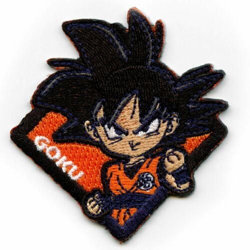 Official Dragon Ball Z Orange Goku Character Square Anime Embroidered Patch