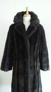 e535362ba857 Vintage Royal Minky by Hillmoor Women s Dark Rich Brown Faux Fur ...