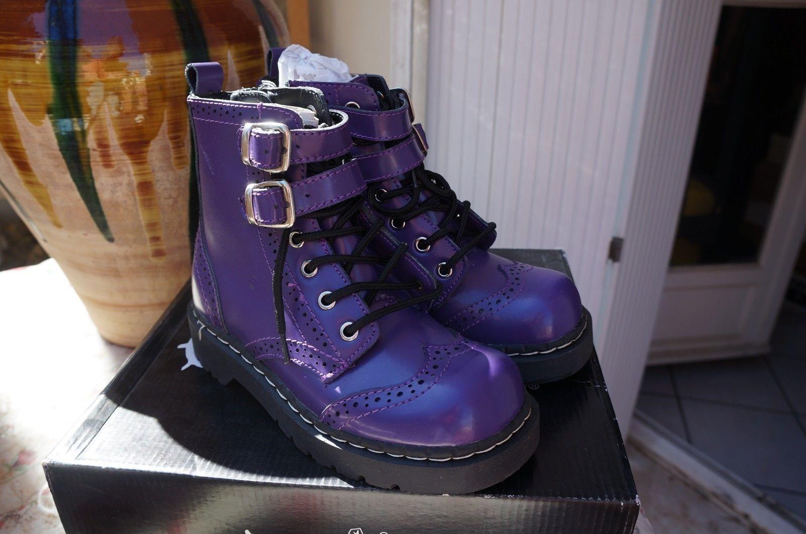 T.u. k. botas t2184 púrpura - púrpura - púrpura verde-negro-blanco, Talla 37 EU