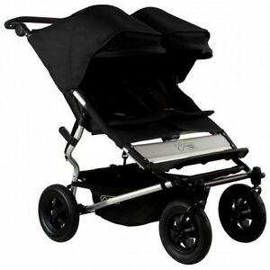 Mountain Buggy 2015 Evolution Duet Double Stroller - Black - New Open Box!!