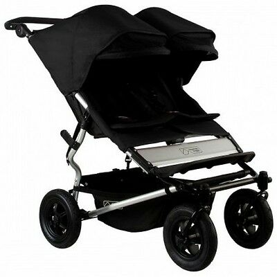 Mountain Buggy 2015 Evolution Duet Double Stroller Black