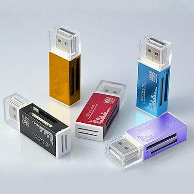 4 en 1 CLE Lecteur Carte Adaptateur Mémoire SD SDHC TF MMC Card Reader USB 2.0