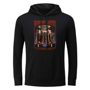 Worship Coffee Men Hoodie Sweatshirts Sweater Jacket Coat Hooded Pullover Unisex