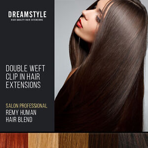 Full-Head-Double-Wefted-Clip-in-Blend-Remy-Human-Hair-Extensions-Blonde-Brown