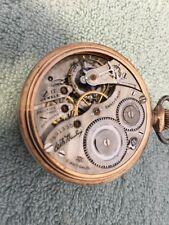 Antique Dueber/Hampden Am Mckinley 17 Jewel Open Faced Pocket Watch S-16
