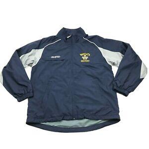 CCM WAYZATA HOCKEY Jacket Size M Medium Loose Fit Windbreaker Mesh Lined Blue