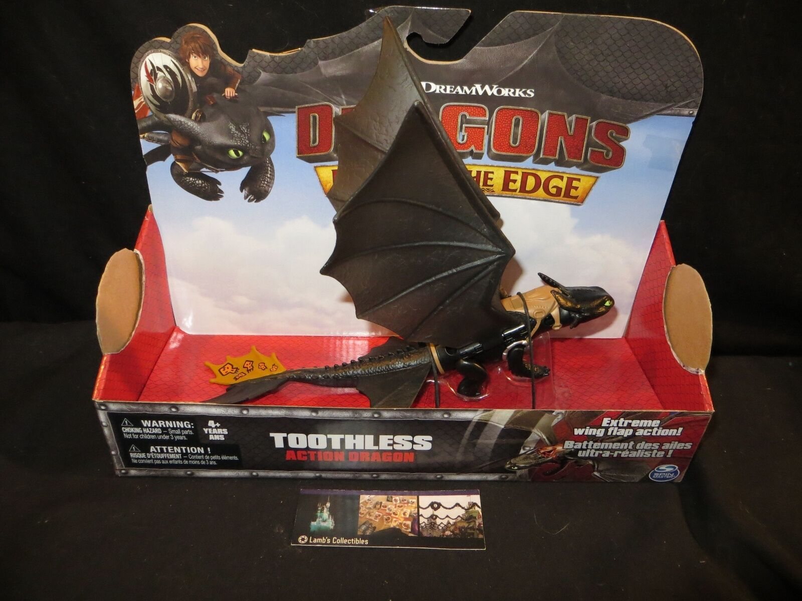 Dreamworks Dragons Toothless Race to the Edge Wing flapping tan tail 11