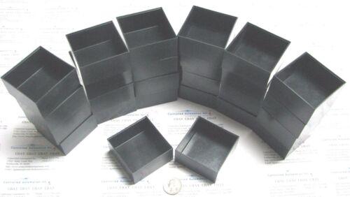 Bud 6x6x3 cm Industry Black Plastic Boxes Lot of 26