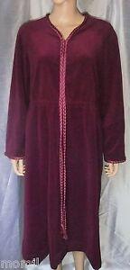 Vintage Vanity Fair Burgundy Velour Long Lounge Dress Robe