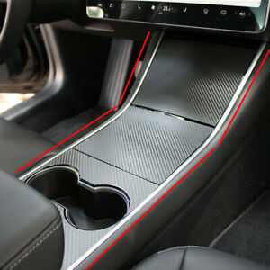 For-Tesla-Model-3-Center-Console-Inner-Cover-Stickers-Wrap-Kit-Car-Accessories