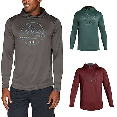 Under Armour Tech Terry Mens Training Pullover Hoody Blue