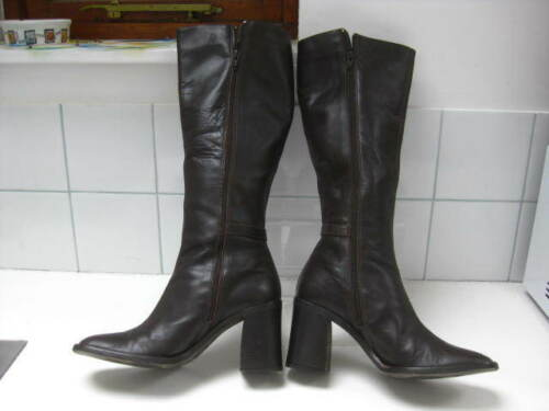 Leather Uk 5 High Riding Size Military Knee Wallis 6 Ladies Biker Boots Brown xqTwn0O