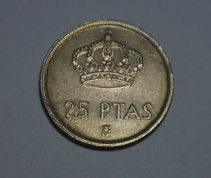 25 Ptas Pesetas Spain Spanien Juan Carlos Espana 1982 Münze Coin Ebay