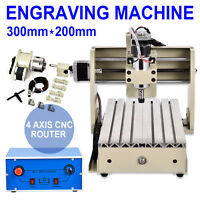 Cnc Router Mill Drill Machine Engraving Metal Cutter 4axis 3020 Desktop Mach3 T-