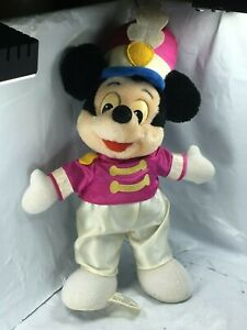 Disney-MICKEY-MOUSE-Drum-Major-Marching-Band-Plush-14-034-Pink-Hat-Disneyland-FS