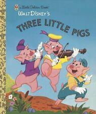 Little Golden Book: Three Little Pigs by Random House Disney Staff and Golden Books Staff (2004, Hardcover)