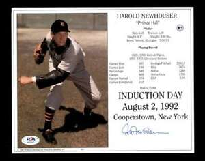 Hal-Newhouser-PSA-DNA-Coa-Hand-Signed-8x10-HOF-Induction-Photo-Autograph