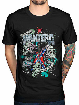 Official Pantera Texas Skull T-Shirt Cowboys From Hell Reinventing The Steel Fa