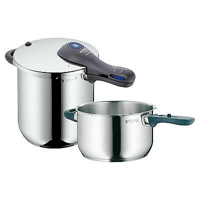 WMF Perfect Plus 3-pc Pressure Cooker Set 18/10 Stainless Steel 8.5 Qt + 4.5 Qt