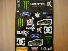 *** MUST SEE *** DC SHOES KEN BLOCK KB43 FORD MONSTER ENERGY STICKER SHEET