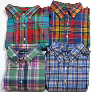 Polo Ralph Lauren Big And Tall Shirt Button Down Casual Plaid Mens ...