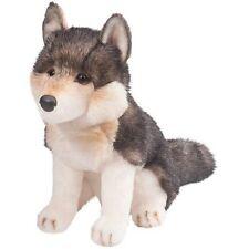 """Douglas Atka Wolf Plush Toy 11"""" Stuffed Animal Sitting Child Gray Grey Timber"""