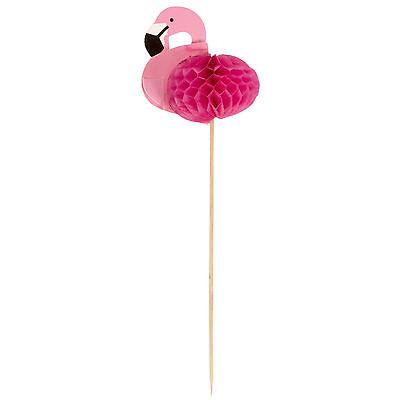 24x  Cocktail Dekoration Flamingo 17,5 cm / Picker, Waben, Pick, Rührstäbchen