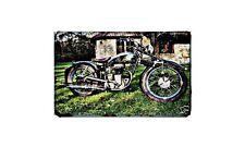 Fn M13 Motorbike Sign Metal Retro Aged Aluminium Bike