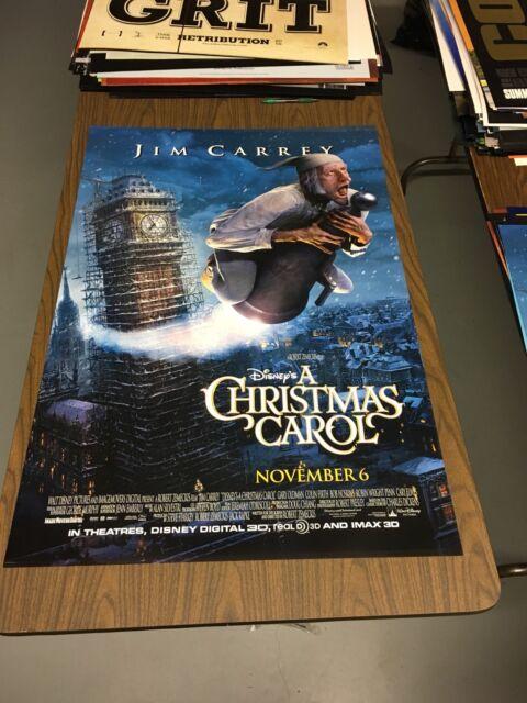 A CHRISTMAS CAROL - 27x40 Original DS Movie Poster - Jim Carrey | eBay