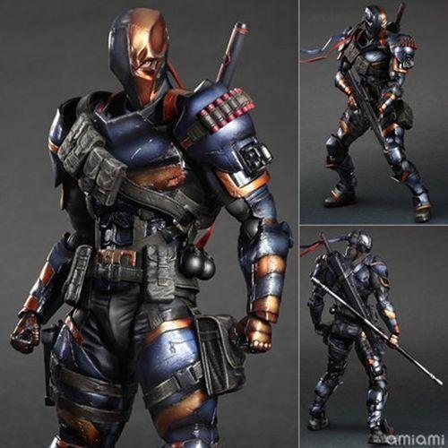 Deathstroke arkham herkunft dc comics spielen kunst kai actionfigur statue modell.