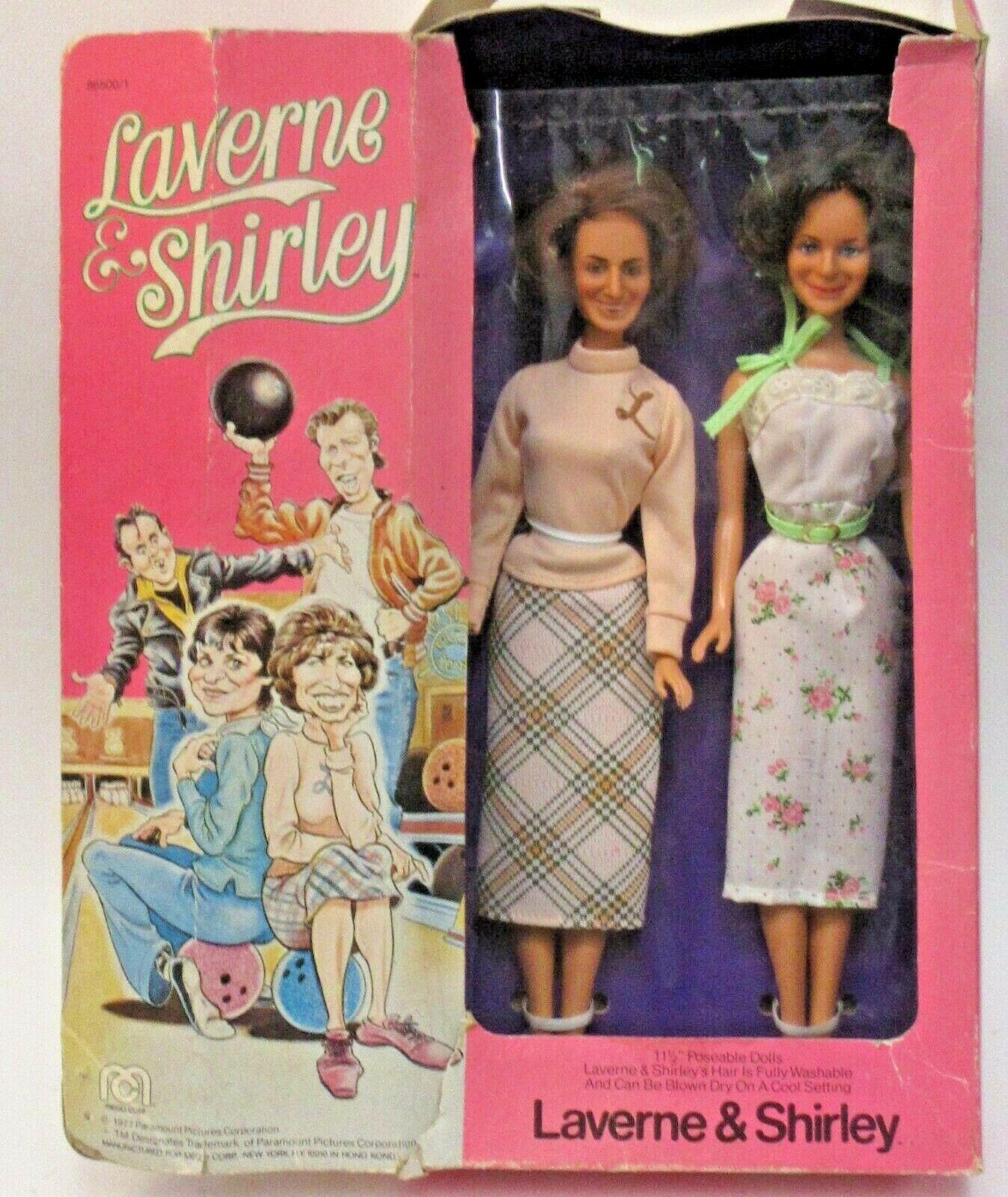 1977 Mego del Laverne & Shirley TV Show De Figuras De Acción Muñeca 11.5  Menta con pobres Caja r2