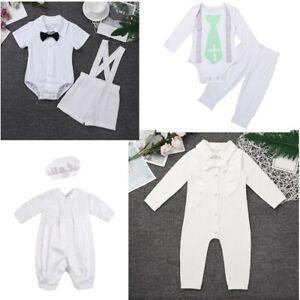Details Zu Newborn Baby Boy Romper Outfits Clothes Baptism Birthday Gentlemen Formal Suit