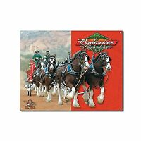 Budweiser Clydesdales Metal Bar Sign Free Shipping