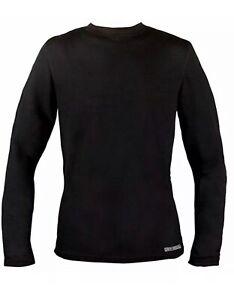 Omni Wool Mens DualLayer Thermal CREW Top LARGE L//S Shirt free shipping GREY