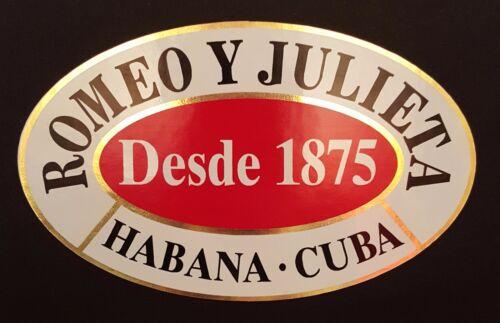 Romeo y Julieta Habana cigar sticker.