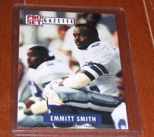 1991 Pro Set Gazette Promo Football Card Emmitt Smith A3 Ebay