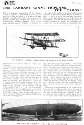"""THE TARRANT TABOR THE LIFE AND VIOLENT DEATH OF /""""THE WORLD/'S BIGGEST AEROPLANE/"""""""