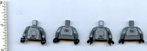Star Wars LEGO x 4 Minifig Gray Torso SW Imperial Officer 3 Pattern Hoth Empire