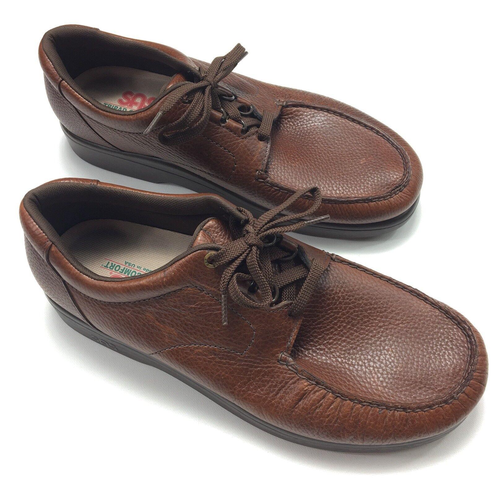 SAS Men's Bout Time Casual Walking shoes Size 14 M Brown Moc Toe