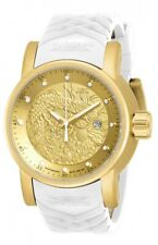 Invicta S1 Rally Gold Textured Dial White and Beige Silicone Men's Watch 19546