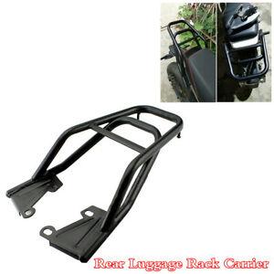 Hollow-Core-Tube-Motorcycle-Rear-Luggage-Rack-Carrier-Mounting-Bracket-Kit-Black
