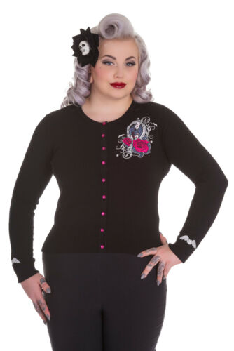 Hell Bunny Plus Size Gothic Black Kalonice Bat Roses Cardigan 2X 3X 4X