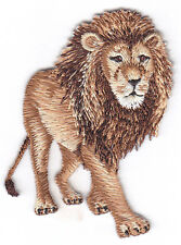 LION  - JUNGLE - ZOO ANIMAL - IRON ON EMBROIDERED PATCH - WILD ANIMALS