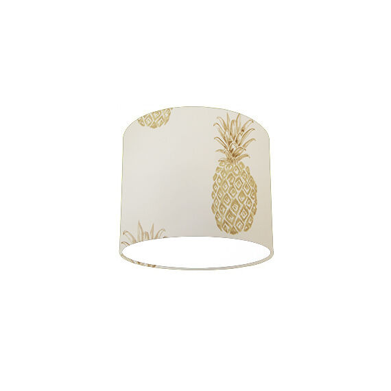 Lampshade Ceiling Light Shade with Laura Ashley Pineapple Pewter Wallpaper