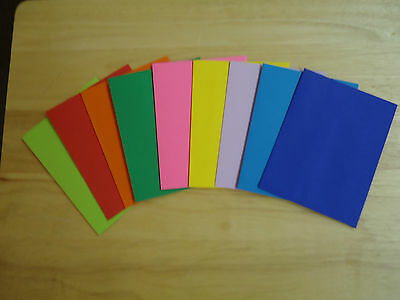 Lot 50 Colored Greeting Card Envelopes A2 4 3/8 x 5 3/4