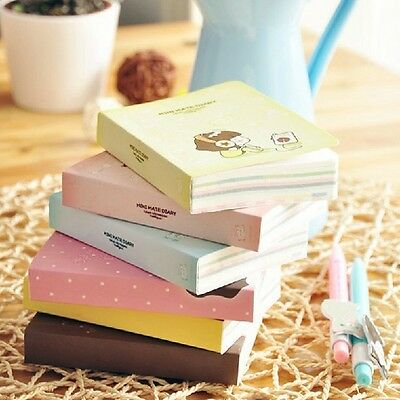 """""""Cookie Girl"""" 1pc Mini Diary Notebook Cute Pocket Planner Journal Memo Free Note"""