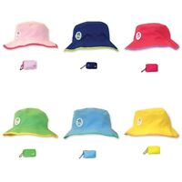 Floppy Tops Ultra Compact Reversible Sun Hat With Clipable Pouch Washable