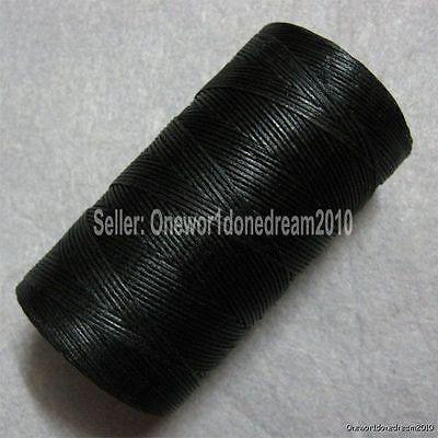 Black LeatherCraft String Bead AWL Diamond Chisel Sewing Waxed Thread 1mm 284yrd