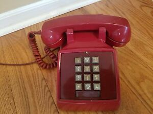 Red Western Electric Bell System phone